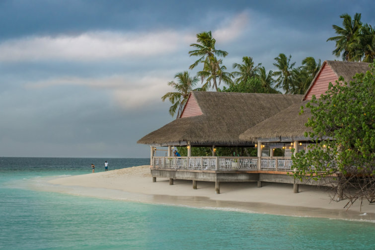 Bilde av feriehus på strand